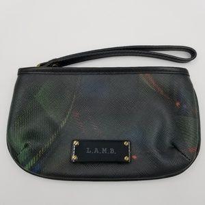 L.A.M.B. Plaid Leather Wristlet